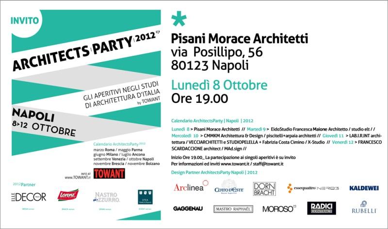 Architects party a napoli 8 ottobre ore 19 pisani morace for Studi di architettura napoli