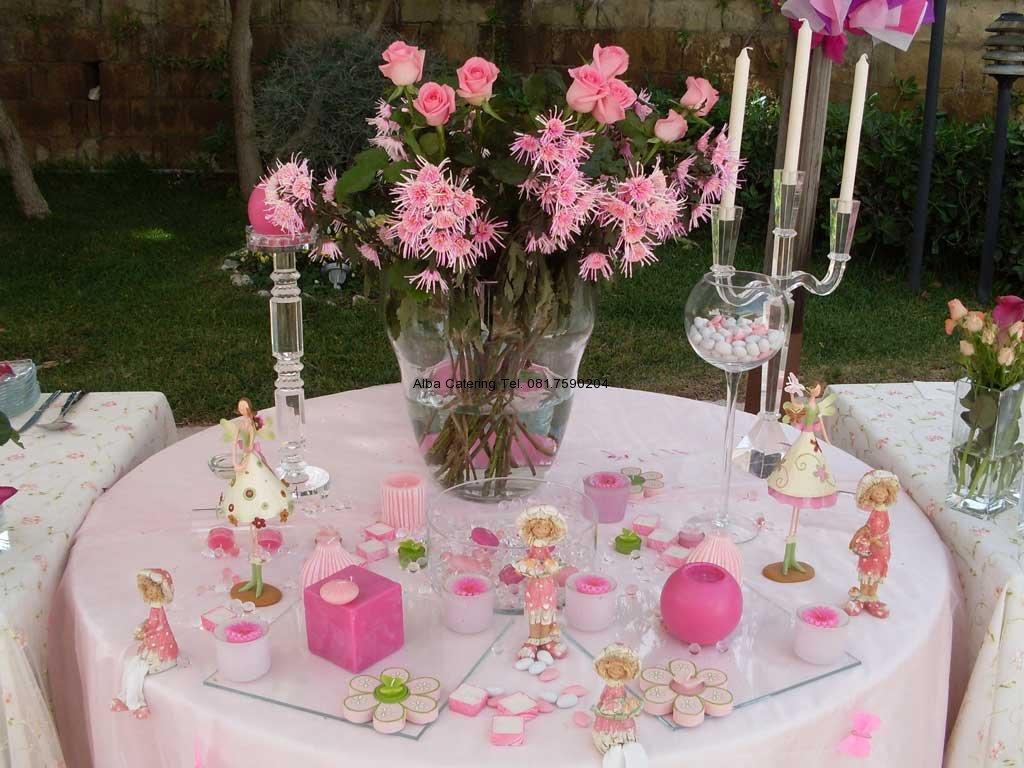 Alba catering luxury banqueting allestimenti in rosa per - Tavolo per prima comunione ...